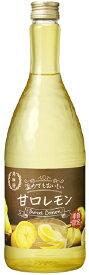 リキュール 月桂冠 温めてもおいしい甘口レモン 720ml瓶 1ケース単位12本入り 月桂冠 送料無料