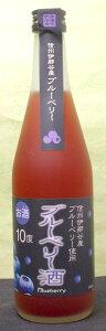 訳あり 喜久水 ブルーベリー酒 500ml 10本 アルコール10% 長野県 喜久水酒造