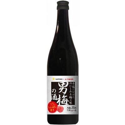 【12本まで送料1本分】(北海道、沖縄と周辺離島は除きます。配送はヤマト運輸です。)「男梅の酒」720ML瓶アルコール15%
