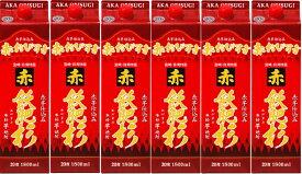 ギフト プレゼント 父の日 家飲み ヤマト運輸 本格芋焼酎 20°赤飫肥杉1.8Lパック6本入1ケース単位 宮崎県 井上酒造