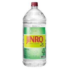 焼酎 韓国焼酎 眞露 ジンロペット JINRO 4L 25度 1ケース(4本入り) 眞露ジャパン