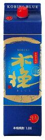 2ケース12本単位 人気急上昇 20°木挽 BLUEパック 芋1.8L12本 宮崎県 雲海酒造 増税