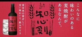 ギフト プレゼント 父の日 本格麦焼酎 25°知心剣 720ml瓶 6本 藤居酒造 販売者 宝酒造 送料無料
