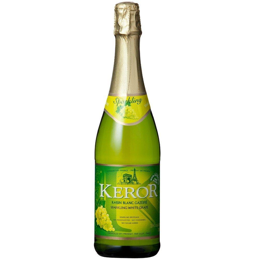 【ノンアルコールスパークリングワイン】(ただし北海道、沖縄、離島地域は除きます。配送は佐川急便指定です。)「ケローフレンチスパークリングホワイトグレープ750ml瓶1本」(フランス)甘口輸入者:重松貿易