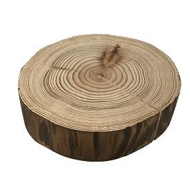 丸太の輪切り 杉 皮付き風 背割り 厚さ約3.5cm×直径約14cm