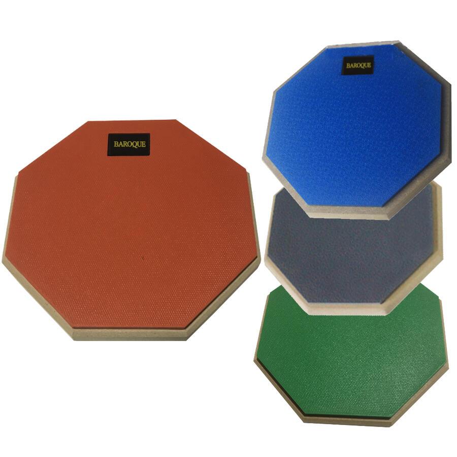 ドラム 練習パッド オレンジ/ブルー/グレー 吸音性 持ち運び