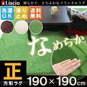 在庫限定 \2780→\2380!! 送料無料 【liscio】 ラグ ラグマット 正方形 190×190cm 正方形 さらさら 絨毯 じゅうたん 滑り止め カーペット 2畳 北欧 マイクロファイバー