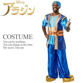 【即納】 メンズ ジーニー 実写版ディズニー ライセンス 公式 メンズ 男性 アラジン 魔人 ランプの精 Aladdin ハロウィン コスプレ 衣装 コスチューム 【Rubie's ルービーズ】