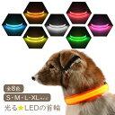 【メール便送料無料】 【即納】 犬 首輪 光る 光る首輪 LED S/M/L/XLサイズ キラキラ光るバンドLEDライト アームバン…