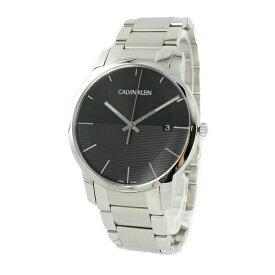 【Rakuten Fashion THE SALE 10%OFF】カルバンクライン CK スイス製 時計 メンズ 腕時計 City Extension シティ エクステンション 43ミリ ブラック シルバー ステンレス K2G2G14C 時計
