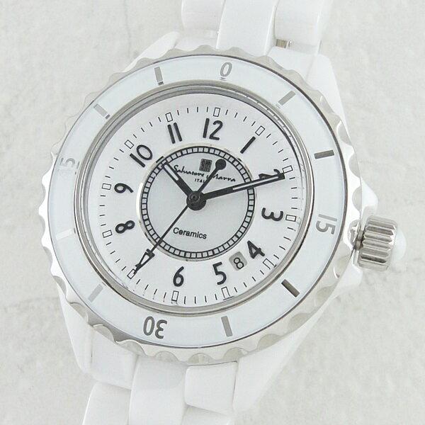 国内正規品 サルバトーレマーラ 時計 レディース セラミック ホワイト SM15151-WHA ビジネス 女性 ブランド 時計 誕生日 お祝い クリスマスプレゼント ギフト お洒落