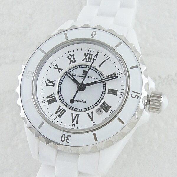 国内正規品 サルバトーレマーラ 時計 レディース 腕時計 セラミック ホワイト SM15151-WHR ビジネス 女性 ブランド 時計 誕生日 お祝い クリスマスプレゼント ギフト お洒落