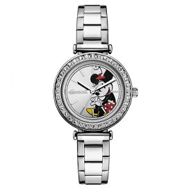 INGERSOLL インガソール Disney ディズニー ミニー 腕時計 レディース かわいい キャラクターウォッチ シルバー ステンレス クリスタル ID00305 ビジネス 女性 ブランド 時計 誕生日 お祝い プレゼント ギフト お洒落