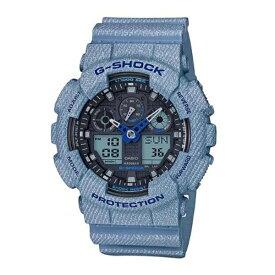 CASIO カシオ G-SHOCK メンズ 腕時計 Gショック ジーショック 海外モデル デニムドカラー 青 ブルー アナデジ GA-100DE-2A ビジネス 男性 ブランド 誕生日 お祝い プレゼント ギフト お洒落