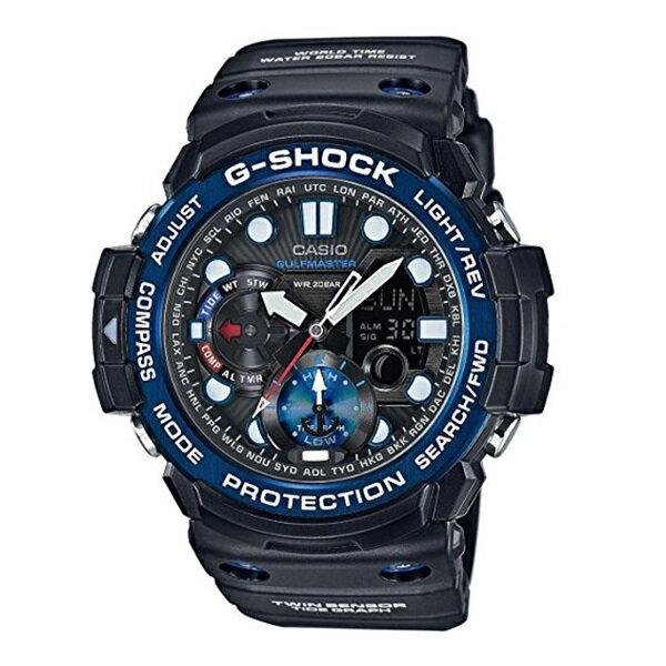 【訳ありボックス アウトレット】Gショック ジーショック 海外モデル 防水 タイドグラフ 黒 青 ブラック×ブルー GN-1000B-1A ビジネス 男性 ブランド 誕生日 お祝い プレゼント ギフト お洒落