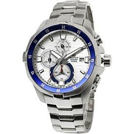 【無料特典付き!】カシオ 時計 メンズ 腕時計 海外モデル EDIFICE エディフィス クロノグラフ 47mm 多機能 シルバー ステンレス EFM-502D-7A ビジネス 男性 ブランド 誕生日 お祝い プレゼント ギフト お洒落
