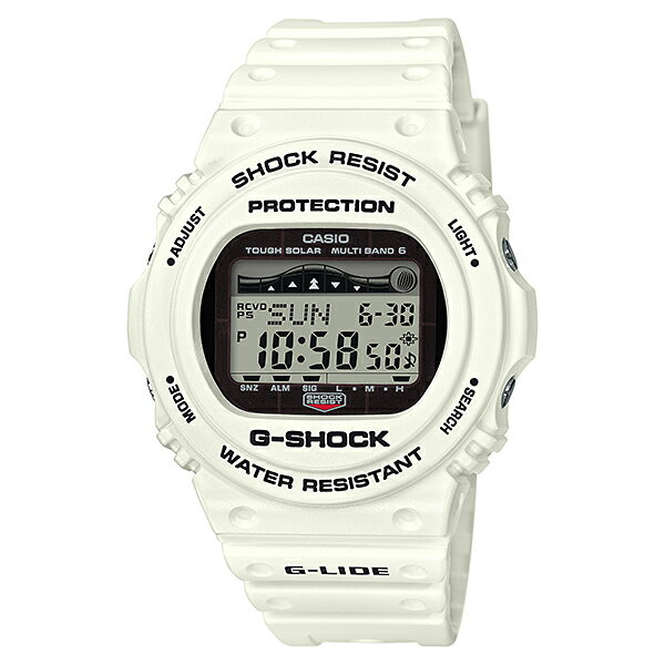 国内正規品 カシオ 時計 腕時計 Gショック G-SHOCK ジーショック G-LIDE ジーライド 電波ソーラー デジタル 多機能 20気圧防水 白 ホワイト GWX-5700CS-7JF ビジネス 男性 女性 ブランド 誕生日 お祝い プレゼント ギフト お洒落