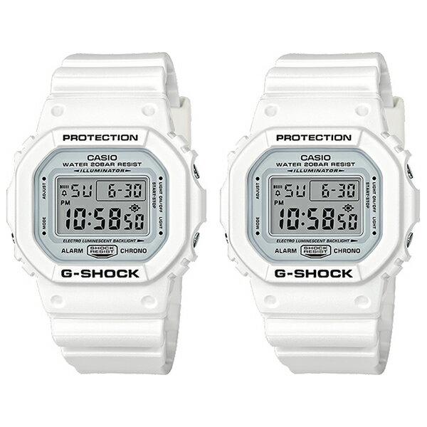CASIO G-SHOCK Gショック ジーショック カシオ 腕時計 ペアウォッチ 同じサイズセット シェア デジタル ホワイト 20気圧防水 海外モデル DW-5600MW-7DW-5600MW-7 ブランド 男女 カップル ペアセット 誕生日 お祝い プレゼント ギフト お洒落