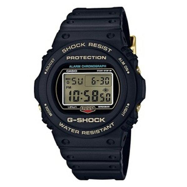 CASIO カシオ G-SHOCK【35周年記念 限定モデル】メンズ 腕時計 Gショック ジーショック 海外モデル オリジンゴールド デジタル ブラック ゴールド DW-5735D-1B ビジネス 男性 ブランド 誕生日 お祝い プレゼント ギフト お洒落