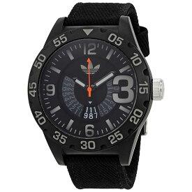 アディダス オリジナルス 時計 メンズ レディース 腕時計 NEWBURGH ニューバーグ ブラック×グレー キャンバス ADH3157 ビジネス 男性 ブランド 【仕事用】 誕生日 お祝い プレゼント ギフト お洒落