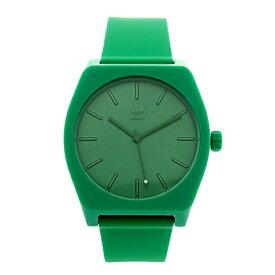 Adidas アディダス 時計 メンズ レディース 腕時計 男女兼用 プロセス お洒落 グリーン 緑 柔らかいベルト CJ6362 ビジネス 男性 女性 ユニセックス ペアにおすすめ ブランド 【仕事用】 誕生日 お祝い プレゼント ギフト お洒落