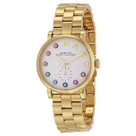 マークジェイコブス 時計 レディース 腕時計 ベイカーグリッツ ゴールド マルチカラークリスタル MBM3440 ブランド 女性 プレゼント 誕生日 お祝い プレゼント ギフト