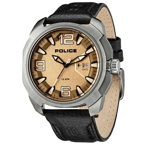 ポリス 時計 メンズ 腕時計 テキサス シャンパンゴールド文字盤 ブラック レザー PL13836JS-61 ビジネス 男性 ブランド 時計 誕生日 お祝い クリスマスプレゼント ギフト お洒落