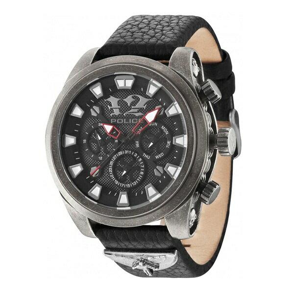 ポリス 時計 メンズ 腕時計 マルチファンクション ブラック レザー PL14473JSQS-02 ビジネス 男性 ブランド 時計 誕生日 お祝い クリスマスプレゼント ギフト お洒落
