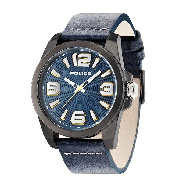 ポリス 時計 メンズ 腕時計 ビニール ブラックケース ダークブルー レザー PL14761JSU-03 ビジネス 男性 ブランド 時計 誕生日 お祝い クリスマスプレゼント ギフト お洒落