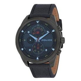 ポリス 時計 メンズ 腕時計 マルチファクション ダークブルー ブラック レザー PL14836JSU-02 ビジネス 男性 ブランド 時計 誕生日 お祝い プレゼント ギフト