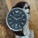 エンポリオアルマーニ 時計 メンズ 腕時計 クラシック ブラック レザー AR2411 ビジネス 男性 ブランド 時計 誕生日 …