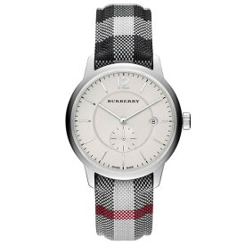 7624fa36dd バーバリー 時計 メンズ レディース 腕時計 ユニセックス シルバー チェック柄 レザーベルト BU10002 ビジネス 男性 女性