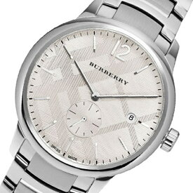 40d8841e07 バーバリー 時計 メンズ 腕時計 デイカレンダー スモールセコンド シルバー BU10004 ビジネス 男性 ブランド 誕生日 お祝い