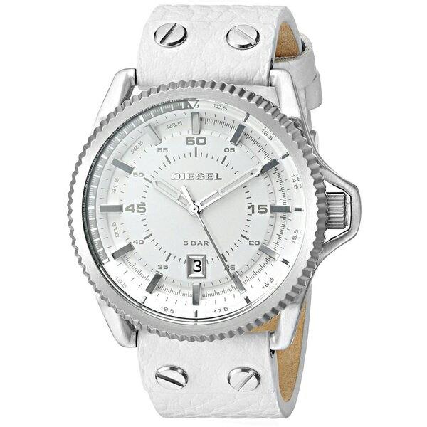 ディーゼル 時計 メンズ 腕時計 ロールケージ ホワイト レザーベルト DZ1755 ビジネス 男性 ブランド 【仕事用】 誕生日 お祝い クリスマスプレゼント ギフト お洒落