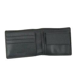 ディーゼルメンズレディースMOHICANSEALHIRESHS二つ折り財布サイフ小銭入れ付きブラックレザーX04373PR013T8013