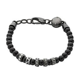 Diesel ディーゼル メンズ アクセサリー BRACELET ブレスレット ブラック キュービックジルコニア 数珠タイプ 男性用 彼氏 DX0961001 ビジネス 男女 ブランド 誕生日 お祝い プレゼント ギフト お洒落