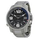 トミーヒルフィガー 時計 メンズ 腕時計 ブラック文字盤 シルバー ステンレス 1791012 ビジネス 男性 ブランド 時計 …