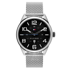 トミーヒルフィガー メンズ 腕時計 ブラック シルバー ステンレス 1791161 ビジネス 男性 ブランド 時計 誕生日 お祝い プレゼント ギフト お洒落