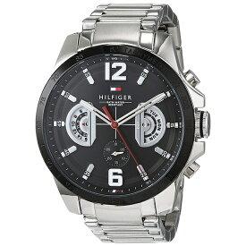 トミーヒルフィガー 腕時計 メンズ DECKER マルチファンクション 46mm ブラック文字盤 シルバー ステンレス 1791472 ビジネス 男性 ブランド 時計 誕生日 お祝い プレゼント ギフト お洒落