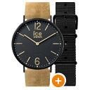 アイスウォッチ 時計 メンズ レディース ユニセックス 腕時計 アイスシティ プレストン 36mm ライトブラウン/ブラック レザー/ナイロン CHL.B.PRE.36.N.15 ブランド カップル