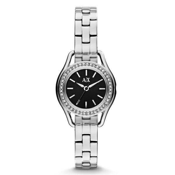 アルマーニエクスチェンジ 時計 レディース 腕時計 ブラック文字盤 シルバー ブレスウォッチ AX4256 ビジネス 女性 ブランド 時計 誕生日 お祝い クリスマスプレゼント ギフト お洒落
