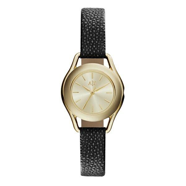 アルマーニエクスチェンジ 時計 レディース 腕時計 イエローゴールド ブラックレザーベルト AX4259 ビジネス 女性 ブランド 時計 誕生日 お祝い クリスマスプレゼント ギフト お洒落