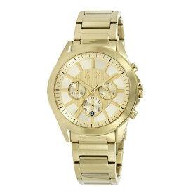 アルマーニエクスチェンジ 時計 メンズ 腕時計 クロノグラフ 45mm オールイエローゴールド ステンレス AX2602 ビジネス 男性 ブランド 時計 誕生日 お祝い プレゼント ギフト お洒落