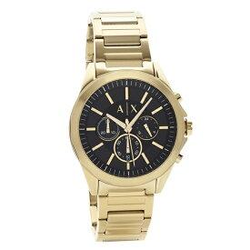 アルマーニエクスチェンジ 時計 メンズ 腕時計 クロノグラフ 45mm ブラック文字盤 イエローゴールド ステンレス AX2611 ビジネス 男性 ブランド 時計 誕生日 お祝い プレゼント ギフト お洒落