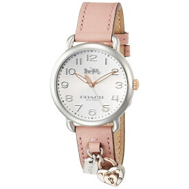 768592962ffc コーチ 時計 レディース 腕時計 DELANCY デランシー ハートチャーム 36mm ピンク レザー 14502971 ビジネス 女性 ブランド 【