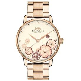 9c5aeb1e6f07 コーチ 時計 レディース 腕時計 GRAND グランド 花柄 ピンクゴールド ブレスレットウォッチ 14503007 ビジネス 女性 ブランド