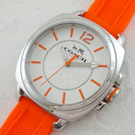 8e5954ff4688 コーチ 時計 レディース 腕時計 ボーイフレンド スモール ネオンオレンジ シリコンベルト 14502141 ビジネス 女性 ブランド 【