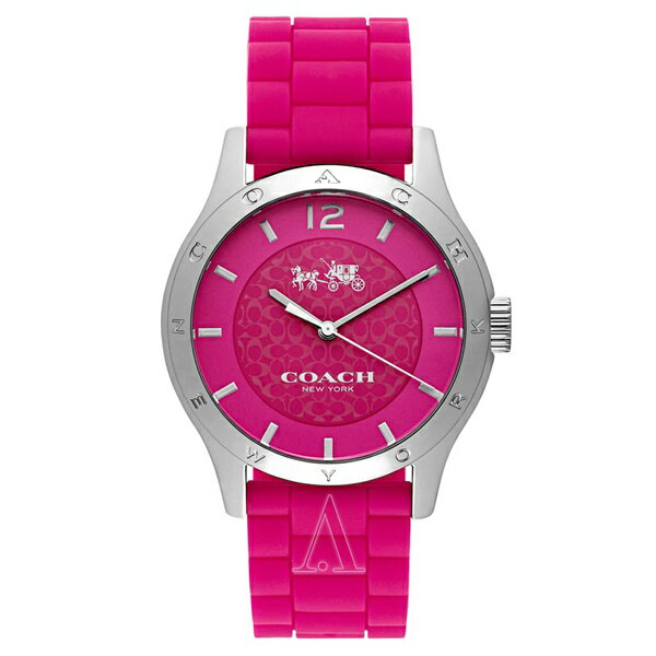 コーチ 時計 レディース 腕時計 MADDY ピンク シリコンベルト 14502513 ビジネス 女性 ブランド 【仕事用】 誕生日 お祝い クリスマスプレゼント ギフト お洒落