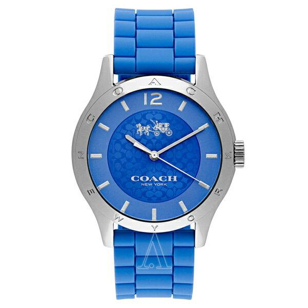 コーチ 時計 レディース 腕時計 MADDY ブルー シリコンベルト 14502514 ビジネス 女性 ブランド 【仕事用】 誕生日 お祝い クリスマスプレゼント ギフト お洒落