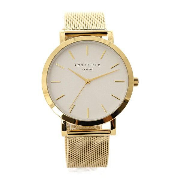 ローズフィールド 時計 メンズ レディース 腕時計 33ミリ ゴールド ステンレス ゴールドケース ホワイト文字盤 TWG-T51 ブランド カップル ユニセックス 男女 誕生日 お祝い プレゼント ギフト お洒落